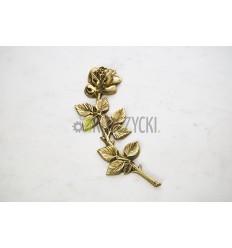 Róża mosiężna 28cm złota, prawa