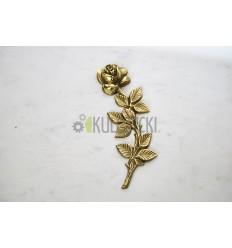 Róża mosiężna 28cm złota, lewa